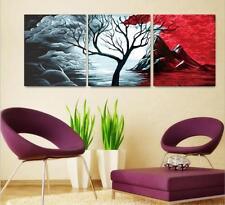40x50cm Triptychon Malen nach Zahlen DIY Baum Malerei Dekor Rahmenlos 221
