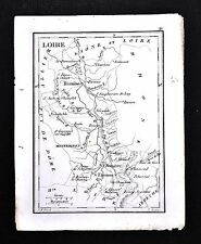 1833 Perrot Tardieu Map - Loire - Roanne St. Etienne Montbrison Feur - France