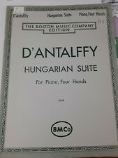 D'Antalffy Hungarian Suite Boston Music Company Piano Duet Four Hands