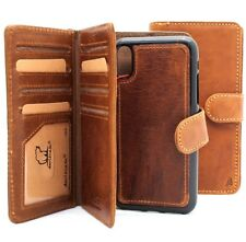 genuine leather Case for apple iphone X wallet handmade cover detachable rubber