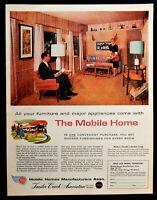 Vtg 1959 mobile home manufacturing trailer advertisement print ad art