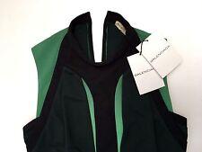 Balenciaga Women Dress Green Sleeveless Size 36 Loose Fit NWT Authentic France