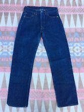 Vtg Levis Redline 501s Dark Blue Wash Denim Jeans Selvedge Women's 27x30 USA #6