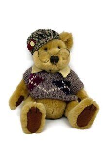 "Sherwood 11"" Bear Plush Brass Button Bear Collection Pickford Bears LTD Brown"