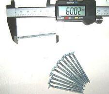"12 x 3.5x60mm (6gx2.5"") BZP BRIGHT ZINC PLATED FINISH SCREWS PH2 PHILLIIPS BUGLE"