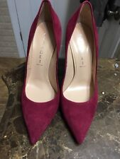 Casadei Burgundry Suade Pumps Size 37 Mafe In Italy New