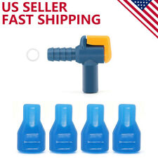 4 Pack Bite Valve Replacement and 90 Degree Silicone Mouthpiece for Hydration