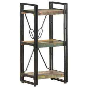 3-Tier Bookcase 40x30x80 cm Solid Reclaimed Wood