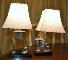 Retro Two Way Light Small Deer lamps with Lanterns and Birds