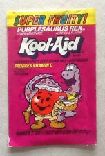 VINTAGE PURPLESAURUS REX KOOL AID UNOPENED ** RARE ** SEALED FULL PACKET 1989-90