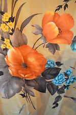 Vintage 1950s Fothergay Fabric Curtains Screen Printed  'Louvaine' Pair 44x40