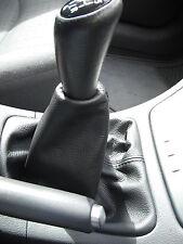 Se adapta a Renault Laguna Mk2 Gear polaina De Cuero Real Nuevo 2001-2004 Negro Stitch
