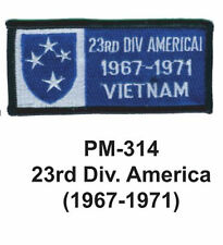"""3""""  23RD DIV. AMERICA(1967-1971) Embroidered Military Patch"""