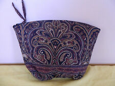 "VERA BRADLEY ""MOCHA"" LARGE COSMETIC RETIRED & RARE EUC"