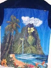 Rietveld Hidden Island Navy Surf Beach Hawaii Luau Button Shirt NWT- XL