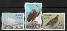 ICELAND 1965 BIRDS MINT NEVER HINGED SET 3