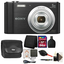 Sony Cyber-shot DSC-W800 Digital Camera (Black) with 64GB Top Accessory Kit