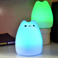 Nice! Kitty LED Children Night Light Multicolor Silicone Soft Baby Nursery Lamp