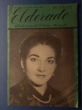 MARIA CALLAS RIVISTA MUSICALE  ELDORADO 31/3/1954 ITALY MAGAZINE