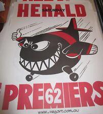 1962 Essendon FC :  VFL Premiers : Official Weg / Herald Poster : Unframed