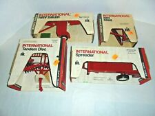 International Four Vintage Farm Implements Ertl With Original Boxes 446,447 More