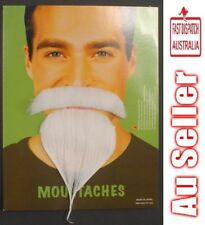 Stick on Moustache and Goatee WHITE One Size.