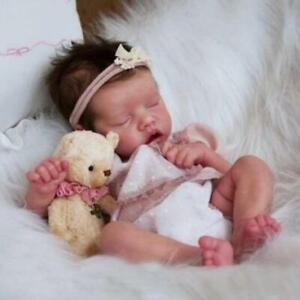 """Realistic Reborn Baby Dolls 17"""" Full Body Vinyl Silicone Newborn Sleeping Doll"""