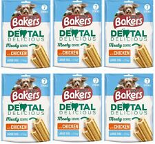 Purina Bakers Dental Delicious Meaty Chicken Centre Chew Large Dog 6x270g JUNE21