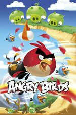 "Angry Birds Attack Evil Pigs Large Poster Official New 61 x 91.5cm (24"" x 36"")"