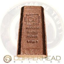 1 x 10 Pound lb (160oz) Element Copper Bullion Bar 160oz Rustic Finish