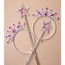 6 princess tiara fairy butterfly wand hen dressing up job lot wholesale HF543