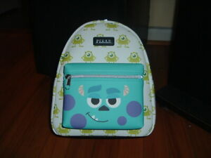 LOUNGEFLY DISNEY PIXAR MONSTERS INC 20TH ANNV. MINI BACKPACK~ WITH TAGS~ NEW~