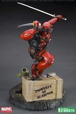 DEADPOOL fine art statue~Kotobukiya~X-Men~Marvel~Sideshow~Wade Wilson NIB