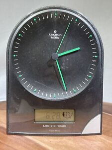 VTG. Junghans Mega Clock Radio Controlled Atomic Time Calendar USA time zones