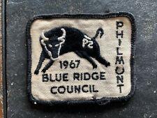 BOY SCOUT 1967 BLUE RIDGE COUNCIL PHILMONT PATCH ITEM #3827
