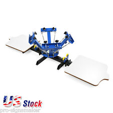 4 Color 2 Station Silk Screen Printing Machine 4-2 Press T-Shirt Print- US Stock