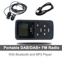 DAB/DAB+ Digital Radio Receiver Taschenradio BT MP3 Player mit Kopfhörer