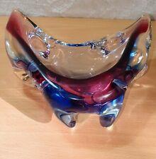 Vintage Murano Art Glass Dish Stunning colours & Unusal Design