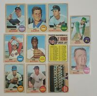 1968 Topps Baseball - Lot of 11 - Jim Bunning - Commons - GRY