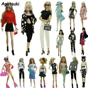 """Fashion Outfits For 11.5"""" Clothes Set Shoes Glasses Crown Purse Hat Toys 1/6"""