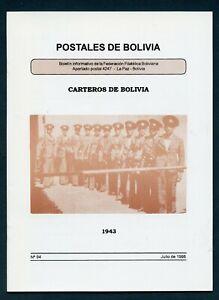 POSTALES DE BOLIVIA #94 JUNE 1998 BOLIVIAN PRESENCE AT FIP SHOWS AS SHOWN