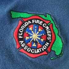 Florida Fire Chiefs Association Woman's Blue Size Small Polo Shirt