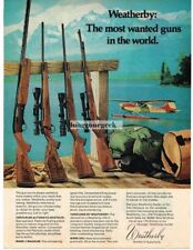 1974 Weatherby Centurion Shotgun, Mark V Magnum Vanguard Mark XXII Rifles Vtg Ad