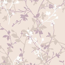 CARTE DA PARATI SIMPATIA 1714 in sfumature di glicine e bianco con fiori lucidi