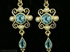 Topaz Drop/Dangle Natural Yellow Gold Fine Earrings
