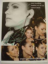 JANA BACH [ Jana Bundfuss ] _ original Autogramm 10 cm x 15 cm _ Autogrammkarte
