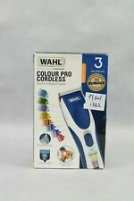 Wahl Colour Pro Cordless Hair Clipper 8 Lengths Rinseable Blades 60min Run Time