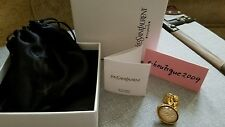 YSL Yves Saint Laurent Arty Ovale Gold Ring Size 5