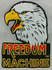Freedom Machine Eagle Jacket Back Patch Stick On Patch Biker Heavy Metal Rock