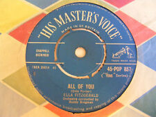 "ELLA FITZGERALD All Of You Ex HMV UK 1960s 7"""
